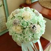Svatební kytice do zelena 01,