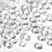 Akrylové diamanty čiré 4,5mm-Skladem,