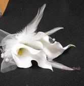 Květ kaly do vlasů 05-SKLADEM,