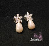 Svatební perlové náušnice 04-skladem,