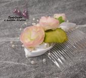 Svatební hřebínek s růžičkami 71-SKLADEM,