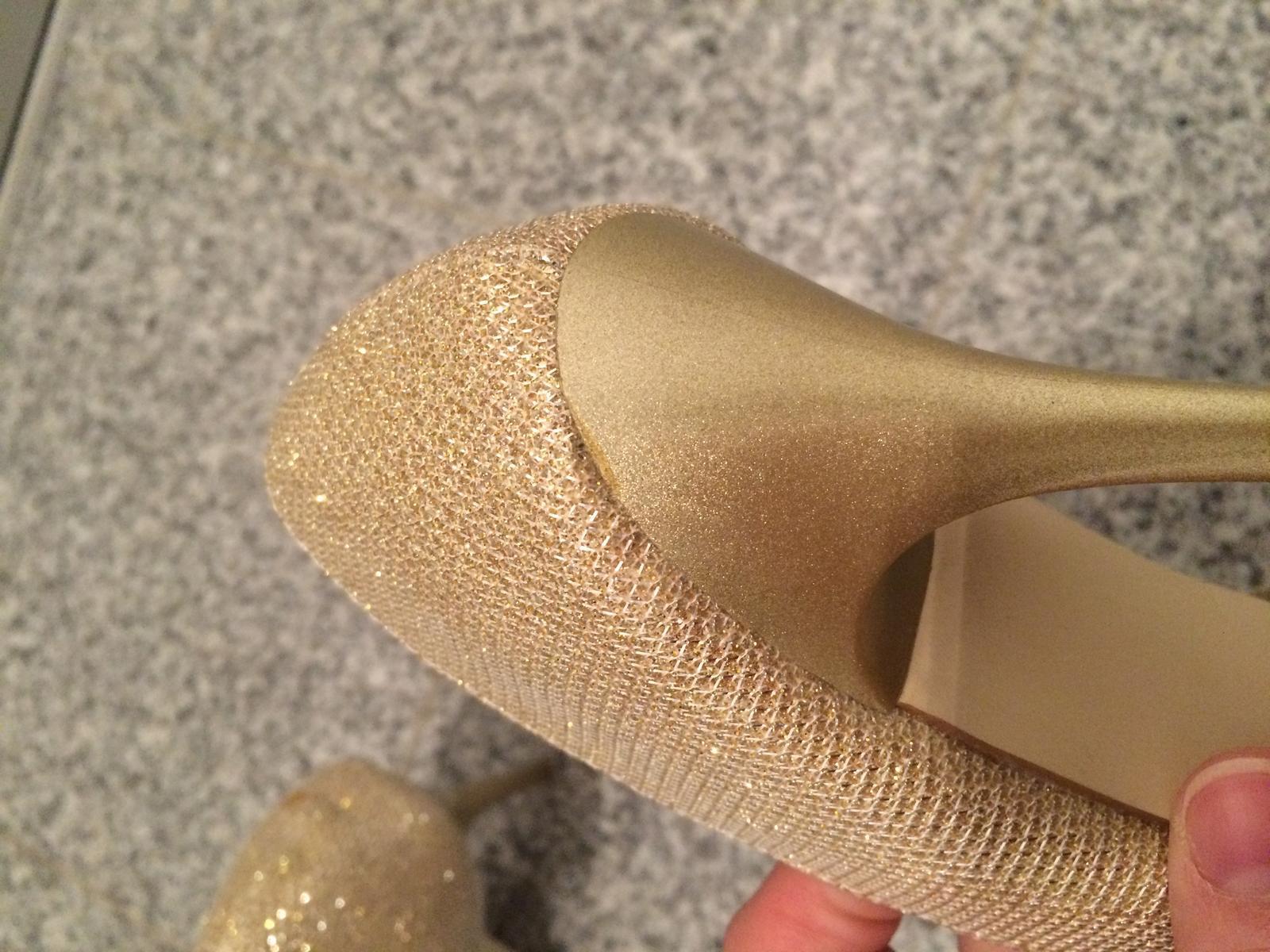 Zlaté lodičky Shimmer - Obrázok č. 3
