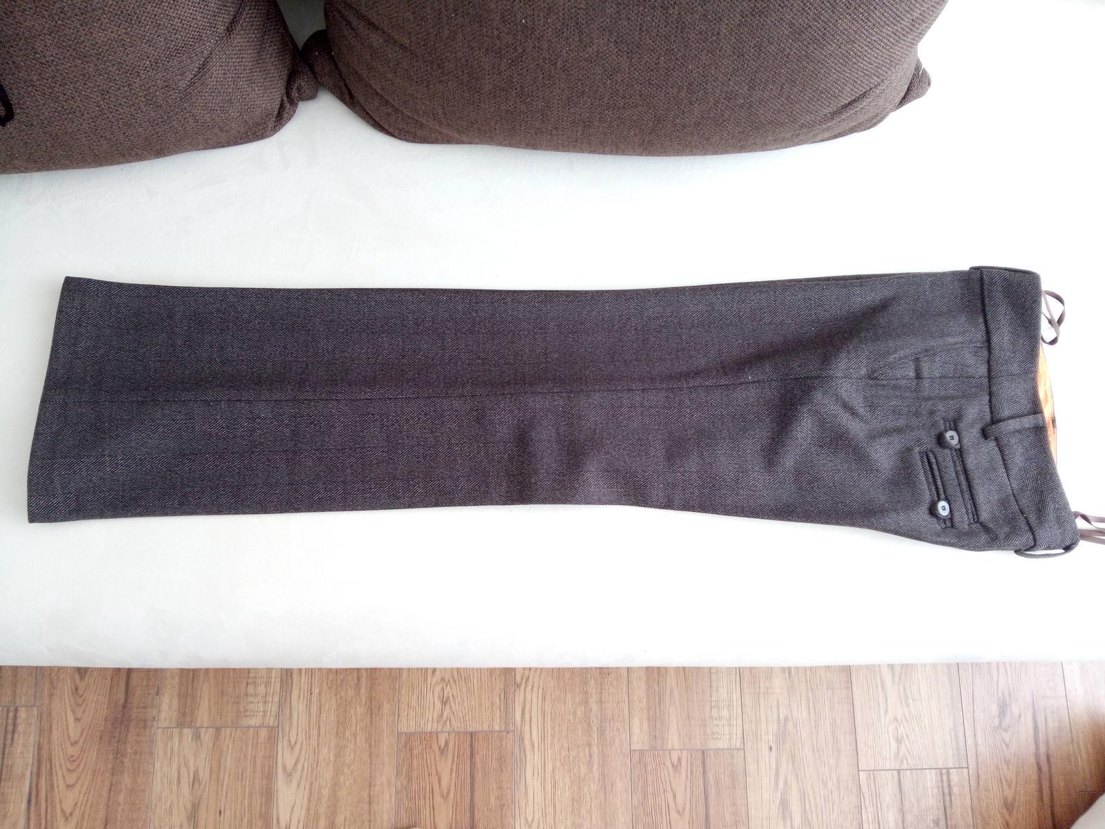Elegantné nohavice - vzor rybia kosť - Obrázok č. 2