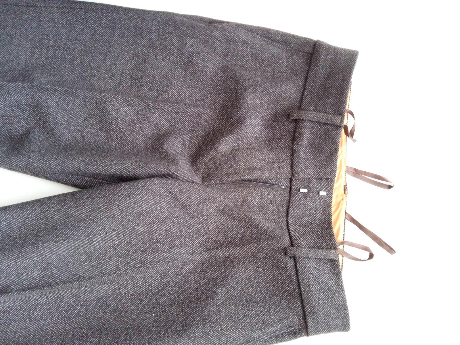 Elegantné nohavice - vzor rybia kosť - Obrázok č. 4