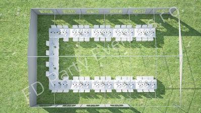 Tal přesně takto to budeme mít nějak uspořádané na zahradě :-) vedle bude ještě jeden takový to stan a tam bude velký bar a možná taneční parket :-)