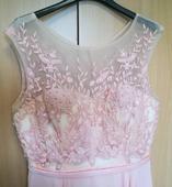 Ružové spoločenské šaty,