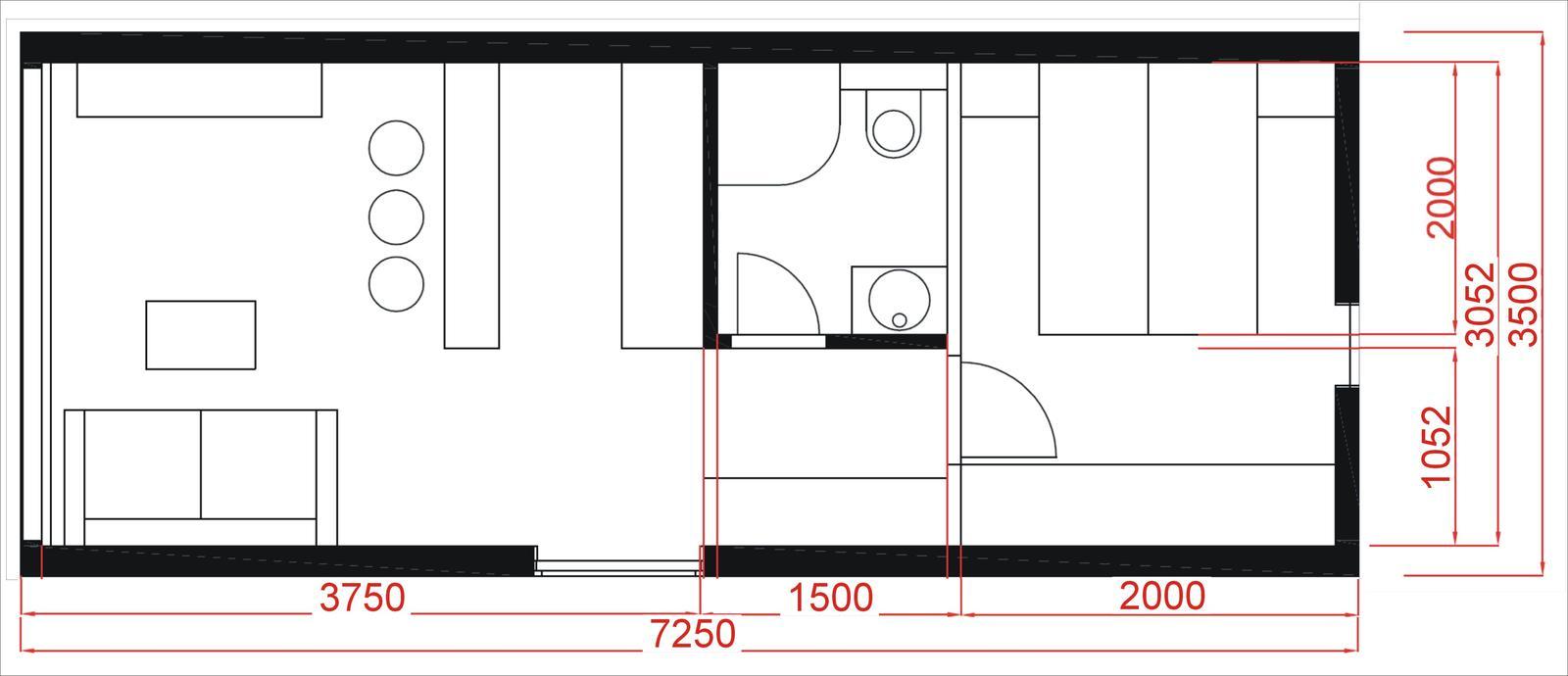 Mobilné domy - Veľkosť mobilného domu č.2