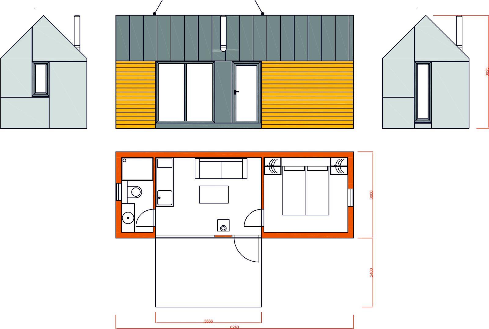 Mobilné domy - Veľkosť mobilného domu č. 3