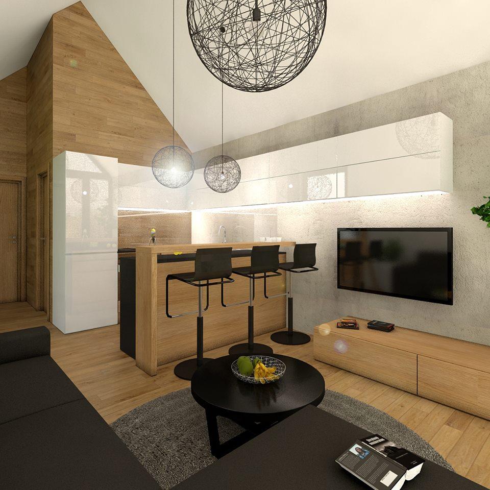 Mobilné domy - Pohľad do kuchyne