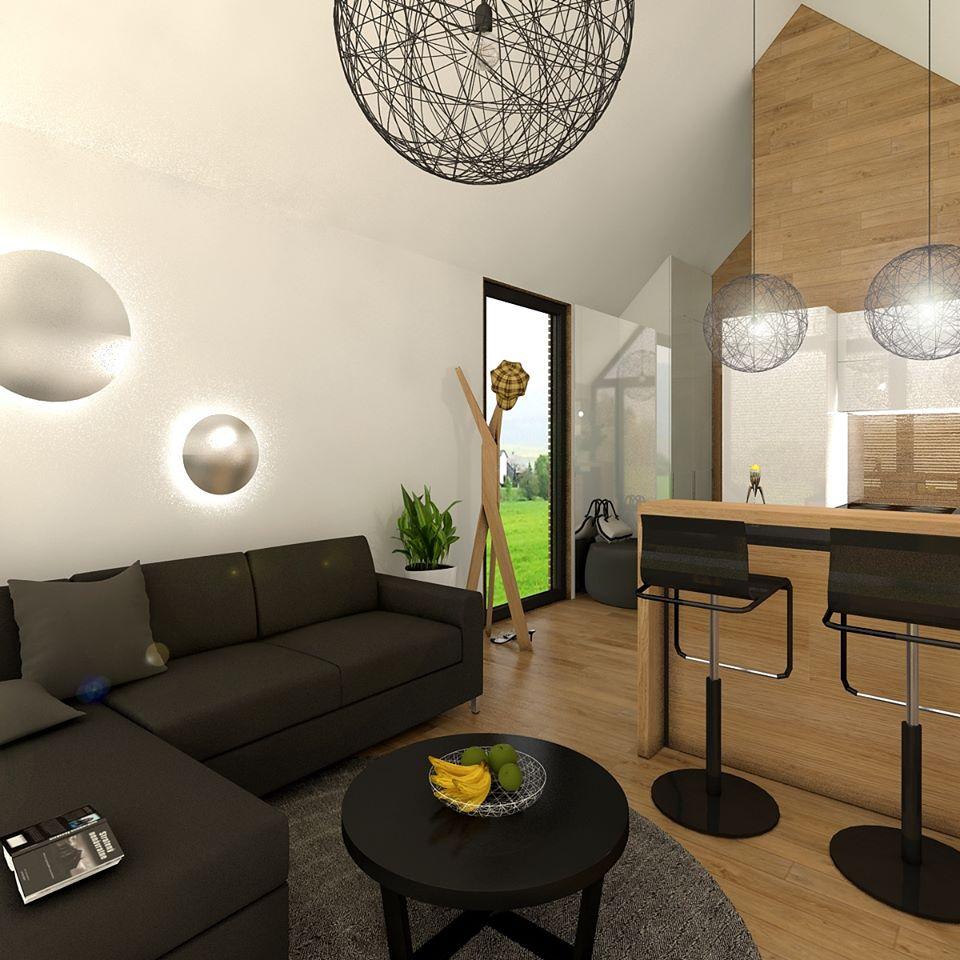 Mobilné domy - Pohľad do obývacej časti