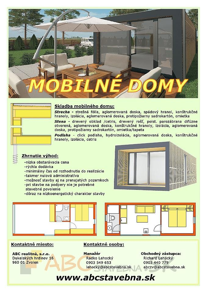 Mobilné domy - Leták MOBILNÉ DOMY