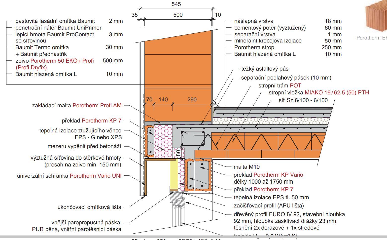 Montaz Oken Detail U Prekladu Porotherm Vario Uni