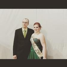 ja s mým budoucim mužem na mém maturitním plese