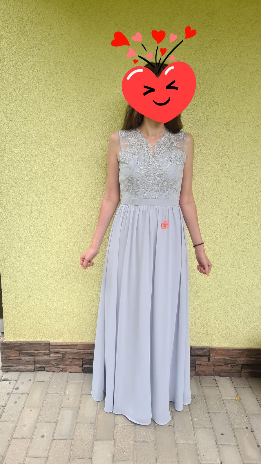 dlhe Chi chi London šaty, bledomodré, v. 38 - Obrázok č. 1