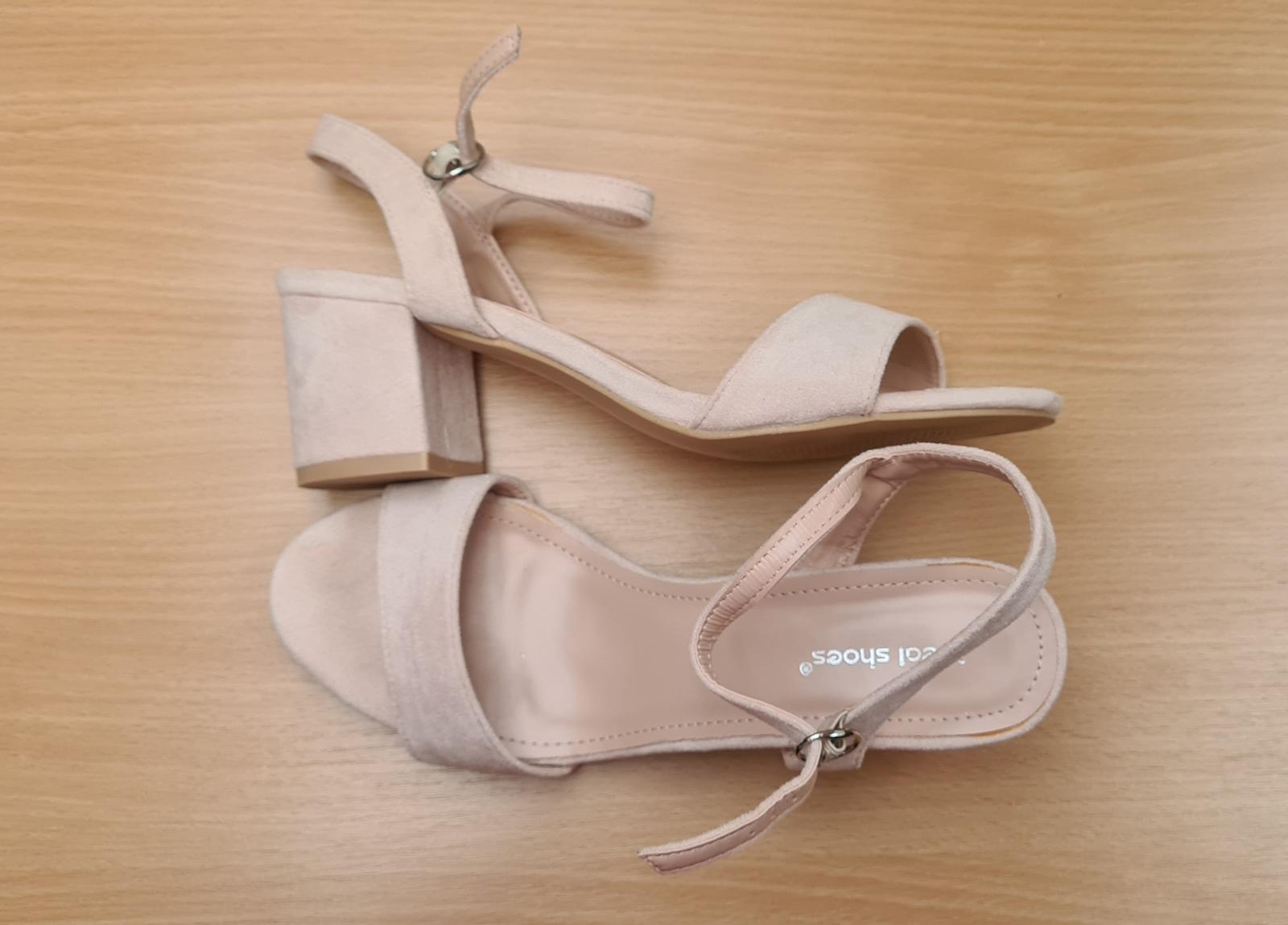 bezove sandalky vel. 39 - Obrázok č. 1