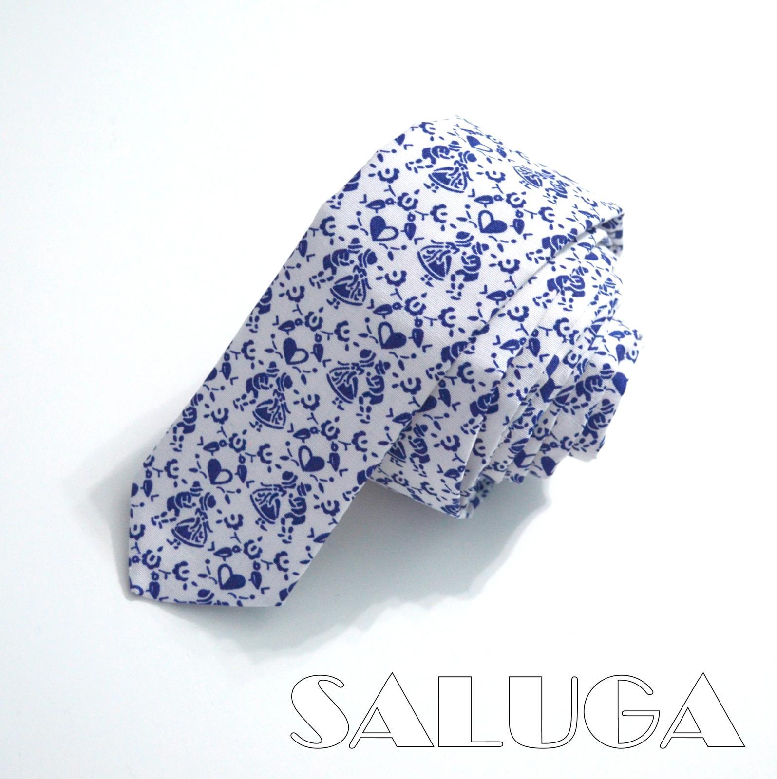 Pánska slim kravata - folk - tanečníci - Obrázok č. 1