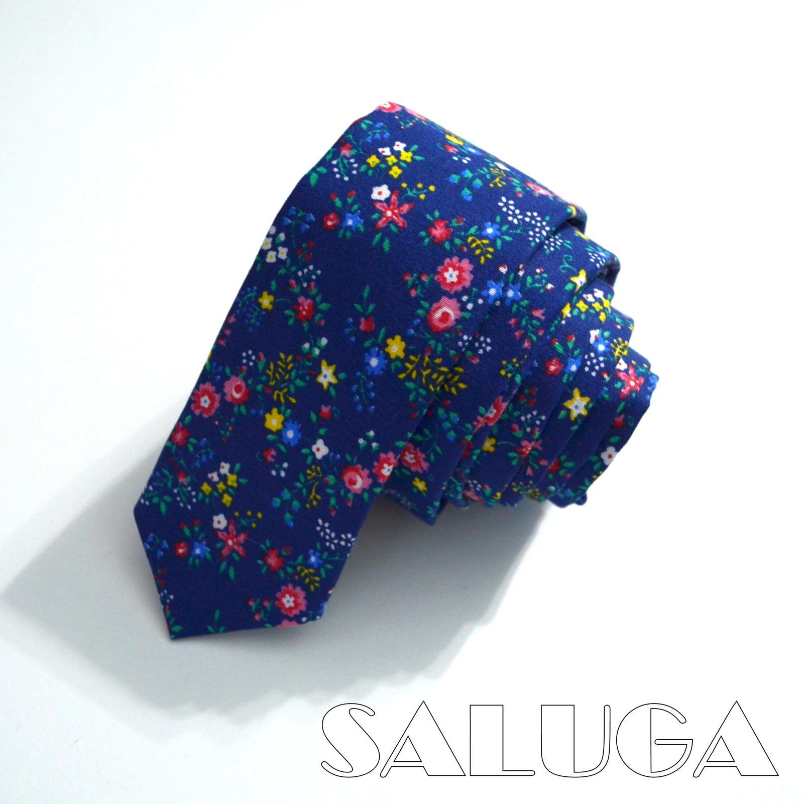 Pánska kvetinová slim kravata - Obrázok č. 1