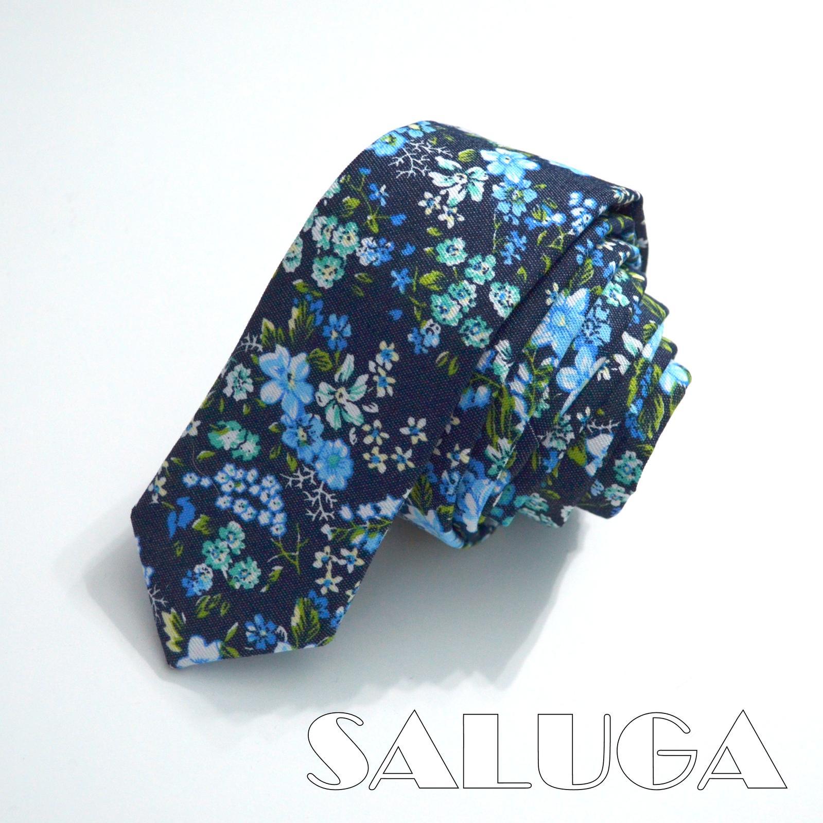 Pánska slim kvetinová kravata - Obrázok č. 1