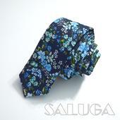 Pánska slim kvetinová kravata,