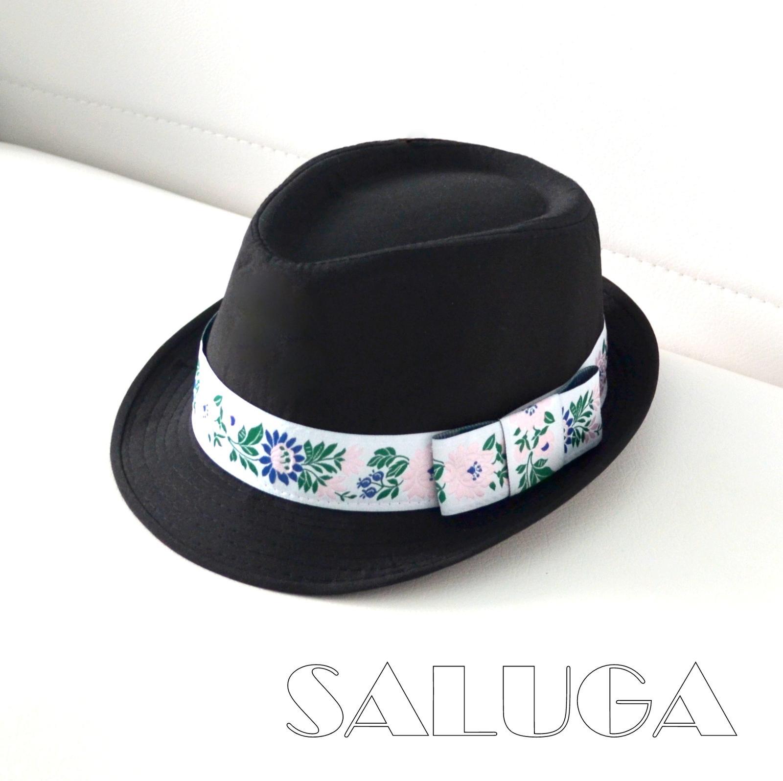 Pánsky klobúk - ružový folklórny - ľudový - Obrázok č. 1