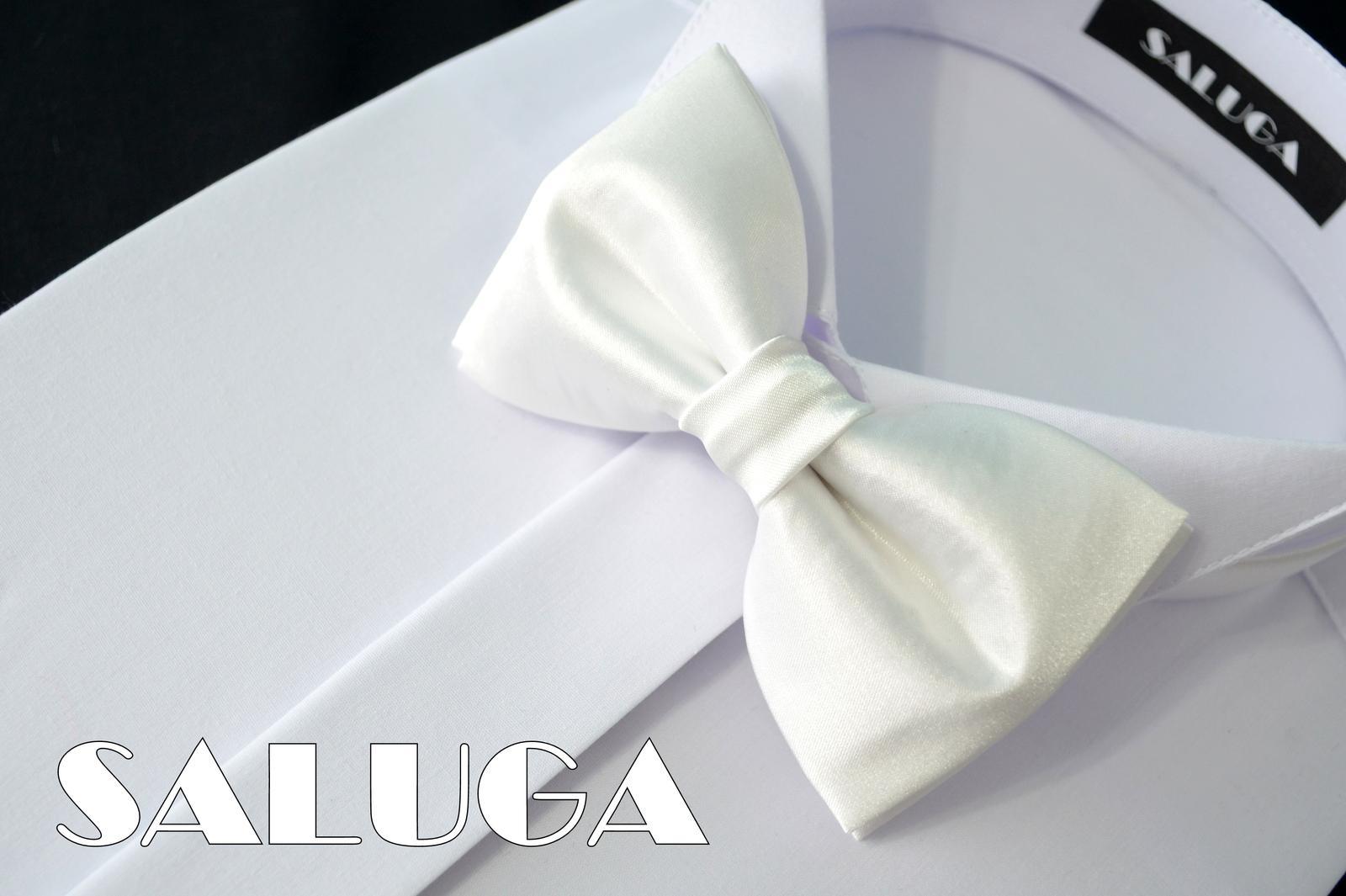 Pánsky biely motýlik - svadobný - Obrázok č. 1