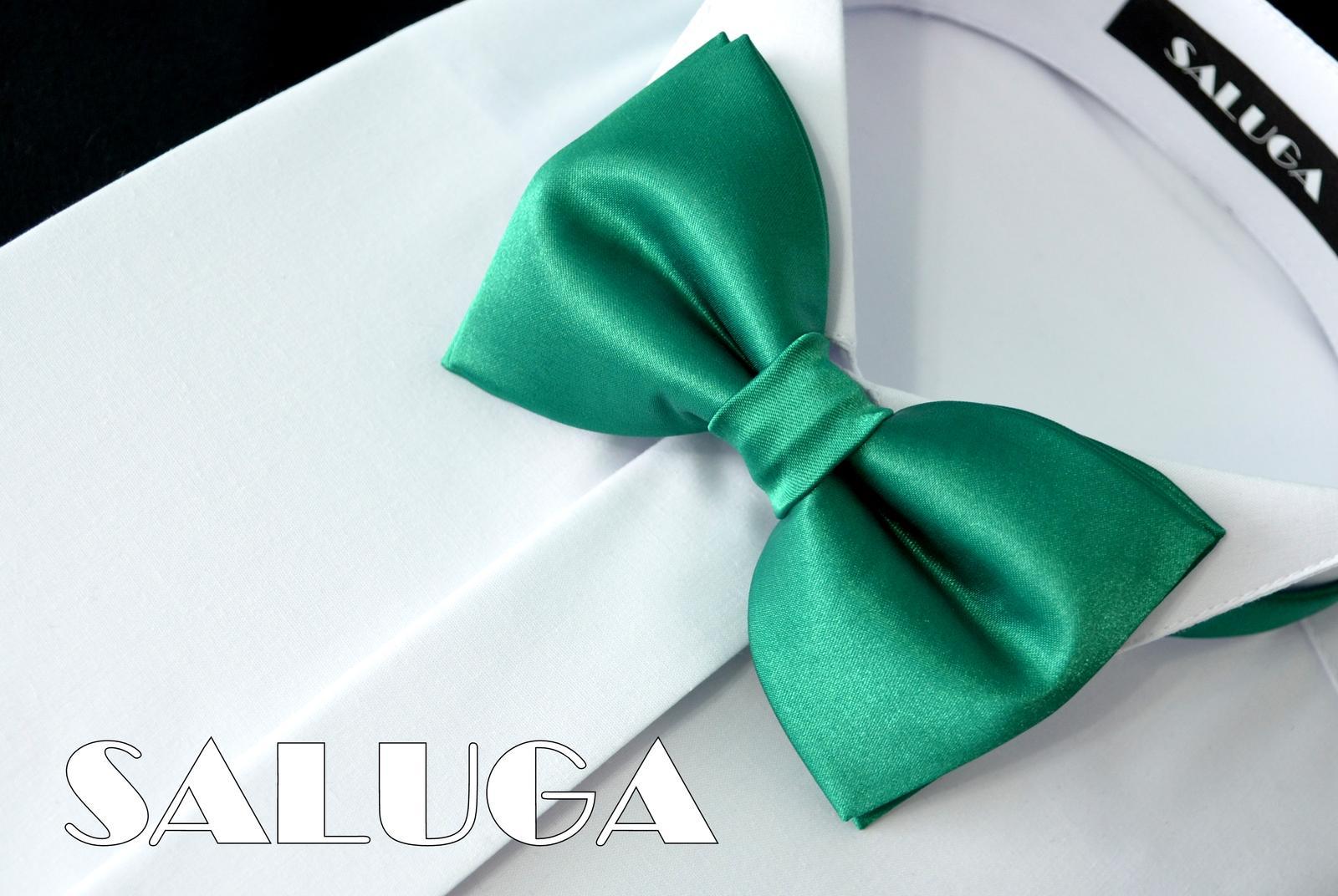Pánsky zelený motýlik - smaragdový - Obrázok č. 1