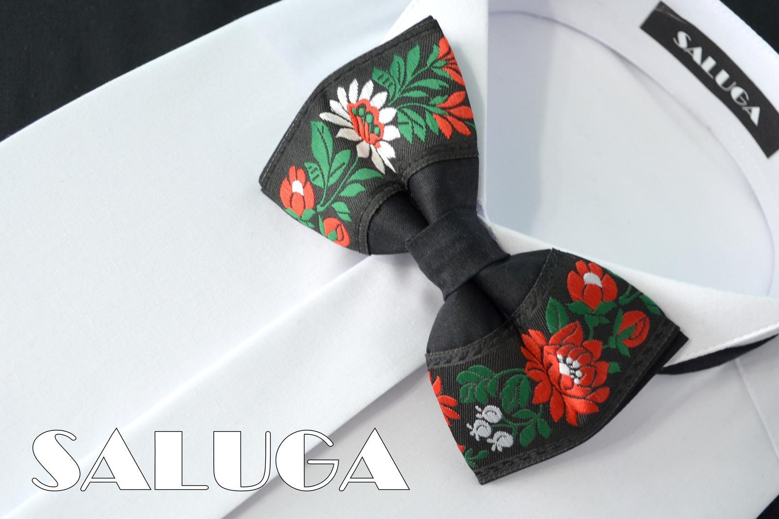 Pánsky folklórny motýlik - čierny - Obrázok č. 1