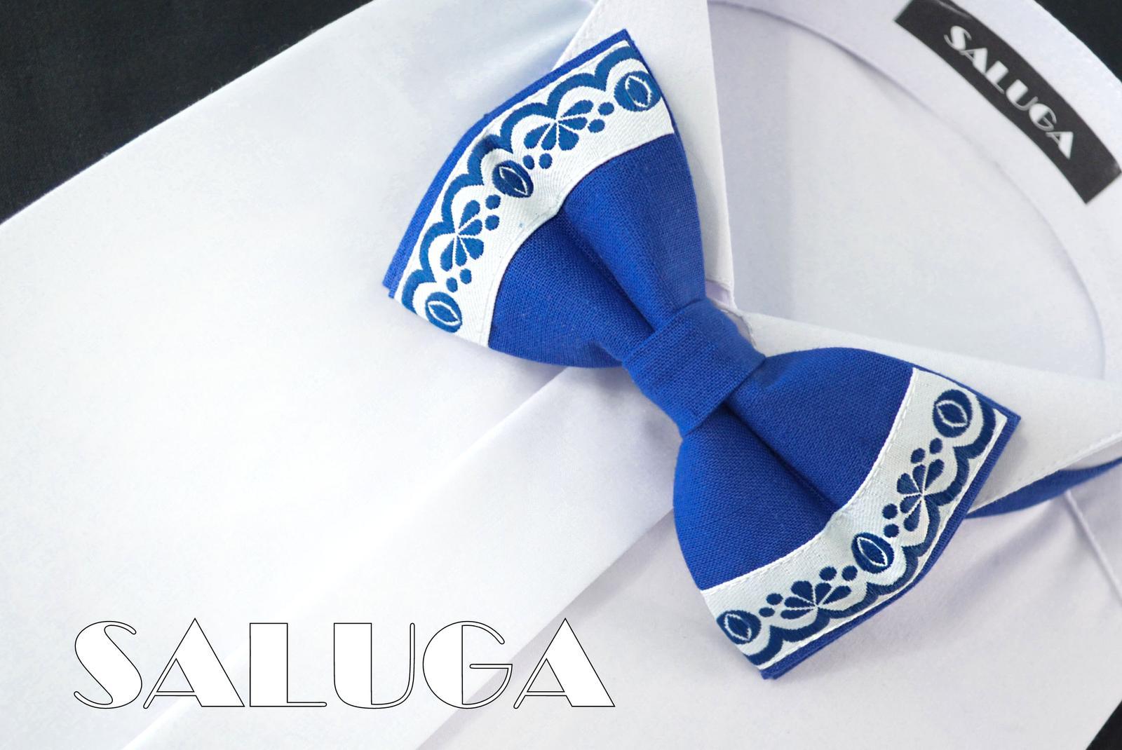Pánsky folklórny motýlik - kráľovský modrý - Obrázok č. 1