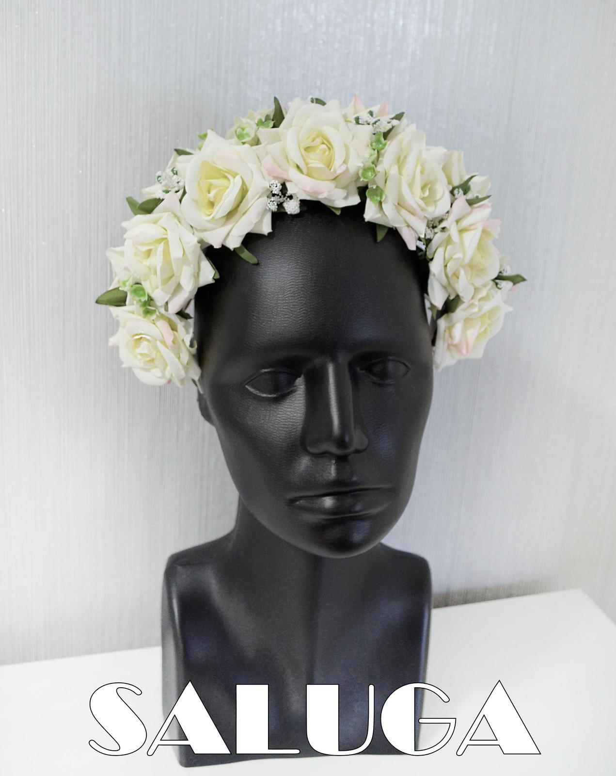 Kvetinová čelenka do vlasov - ruže - Obrázok č. 1