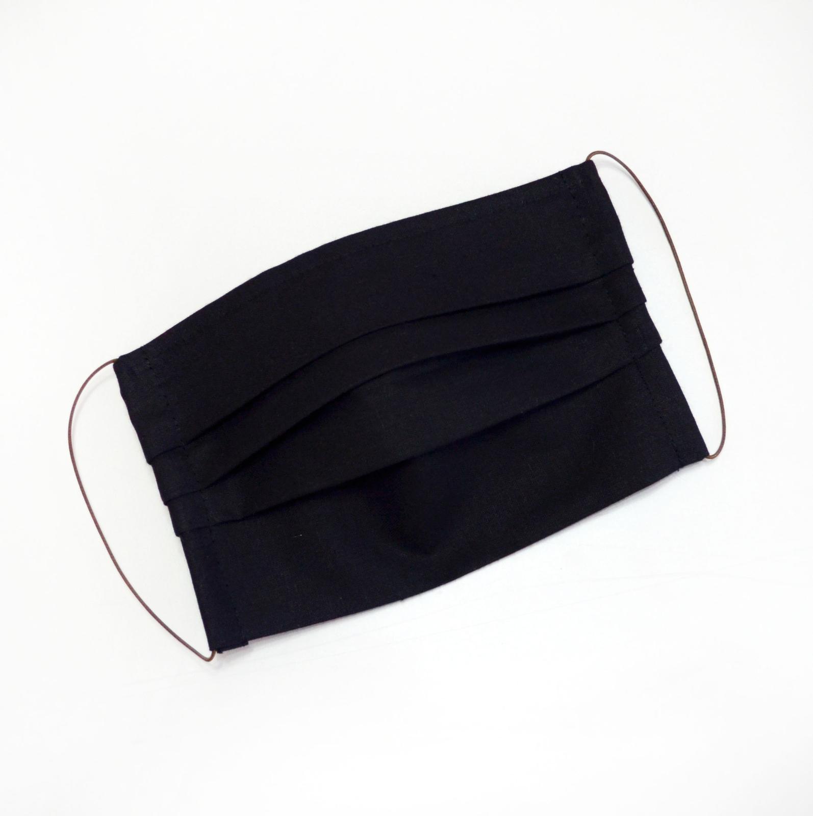 Dvojvrstvové bavlnené rúško na tvár - čierne - Obrázok č. 1