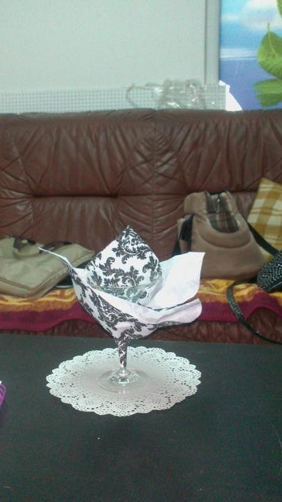 Čo už máme - Takto bude naservírovaný martini pohár na predjedlo :-)