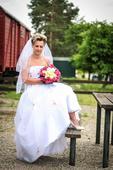 Svatební šaty velikost 38 - 42, 38