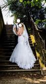 Originálne snehovo biele svadobné šaty, 36