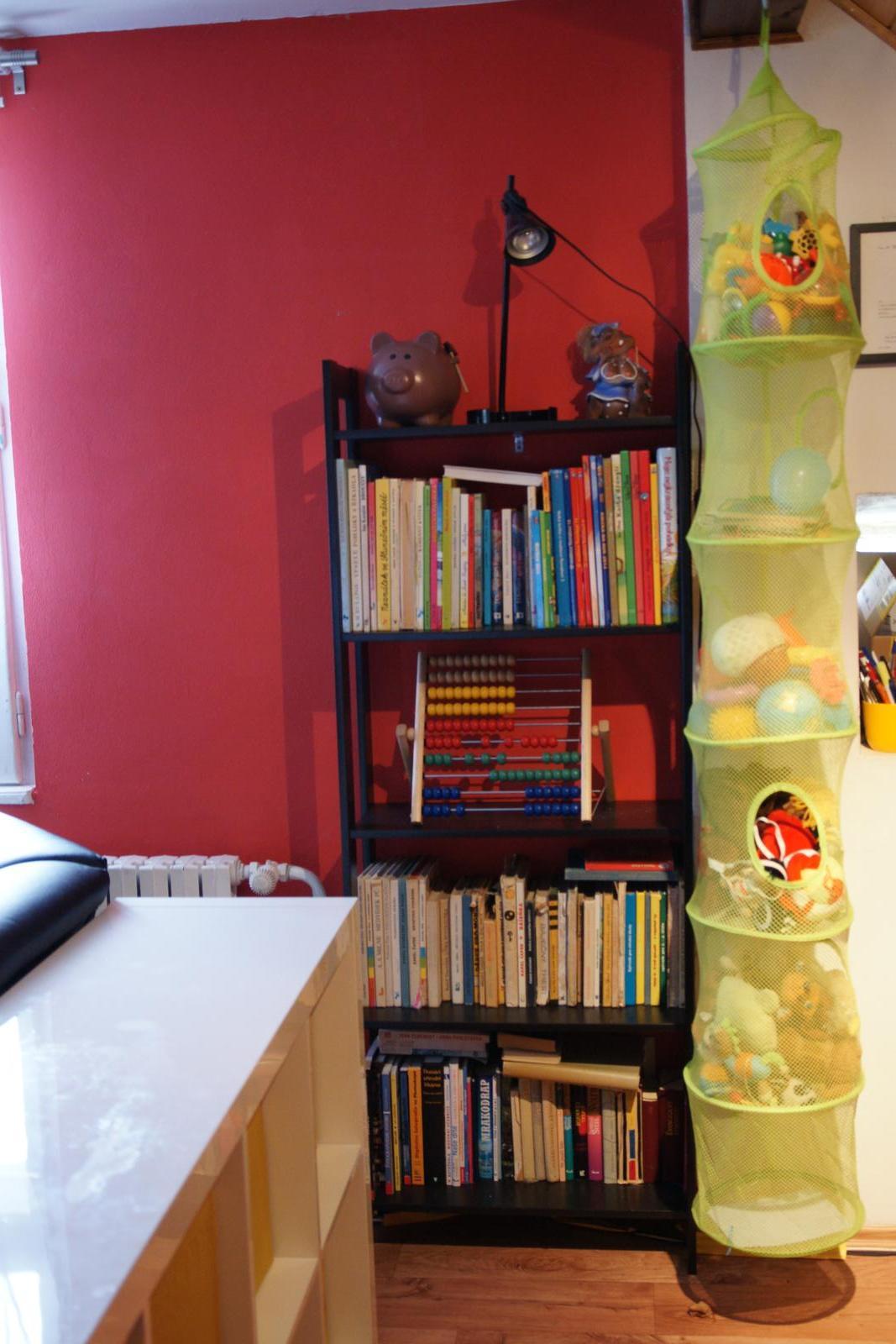 Náš  byteček - klukům jsme pořídili knihovničku