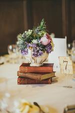 Dekorace pod květiny na svatební stůl