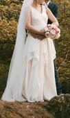 Svadobné šaty použité len na fotenie - veľkosť 38, 38