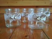 Vintage svícny/vázy s krajkou,