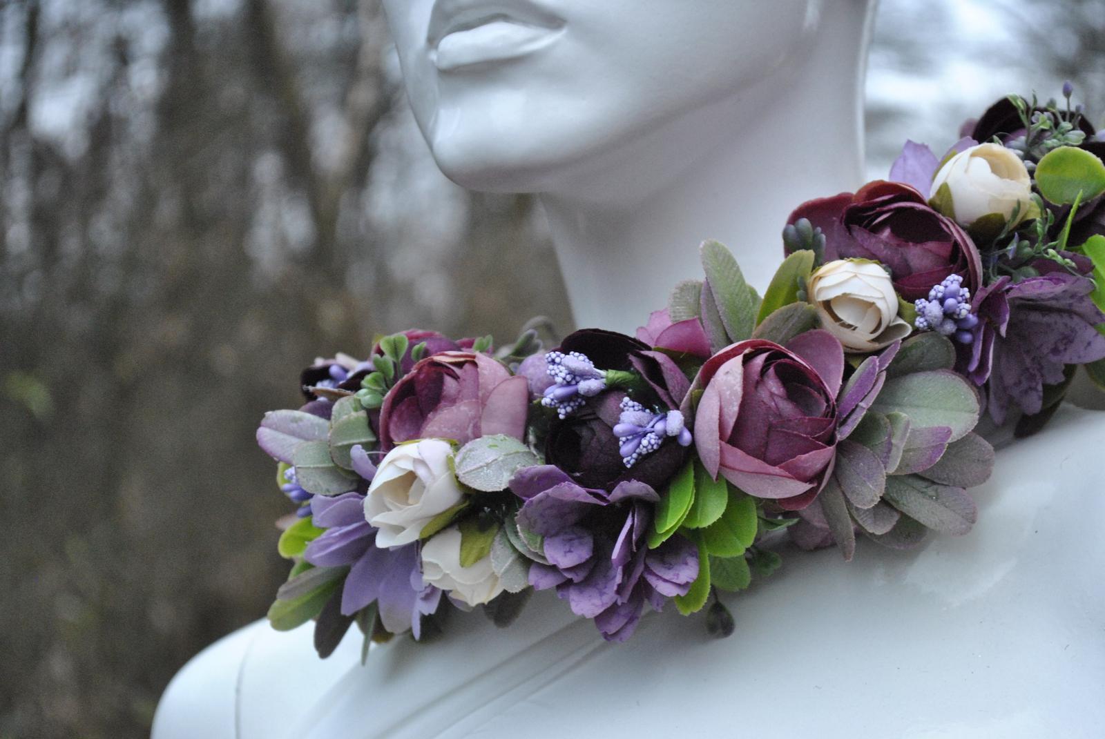 Kvetinový venček fialový - Obrázok č. 1
