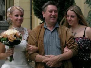 ja s ockom  a so sestrou
