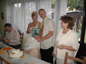 svadobný dar od mojich rodičou na fotke