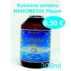 Koloidne striebro NANOMEDIX 10 a 20ppm / 300ml - Obrázok č. 1