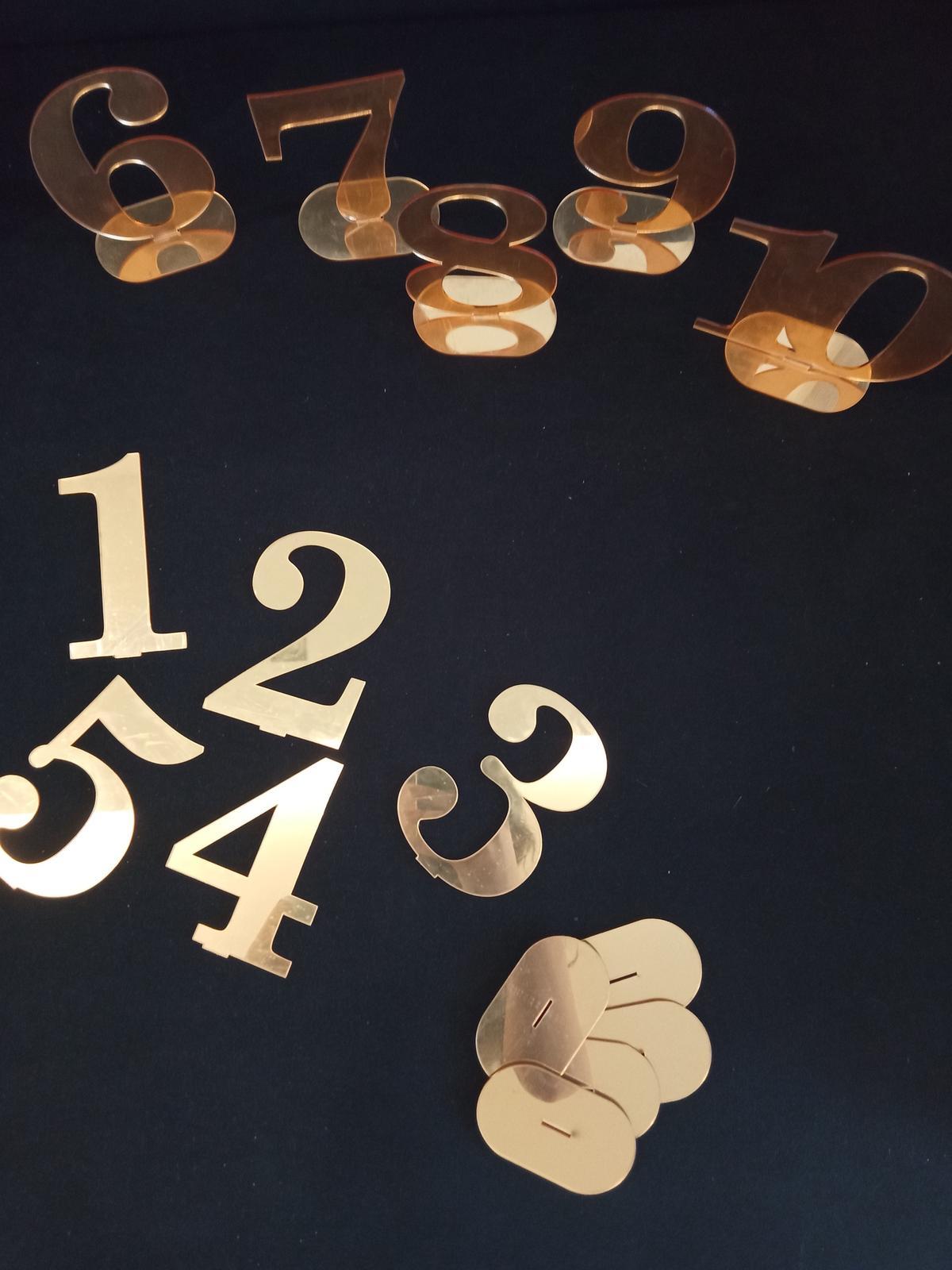 Čísla na stoly -nové - Obrázok č. 1