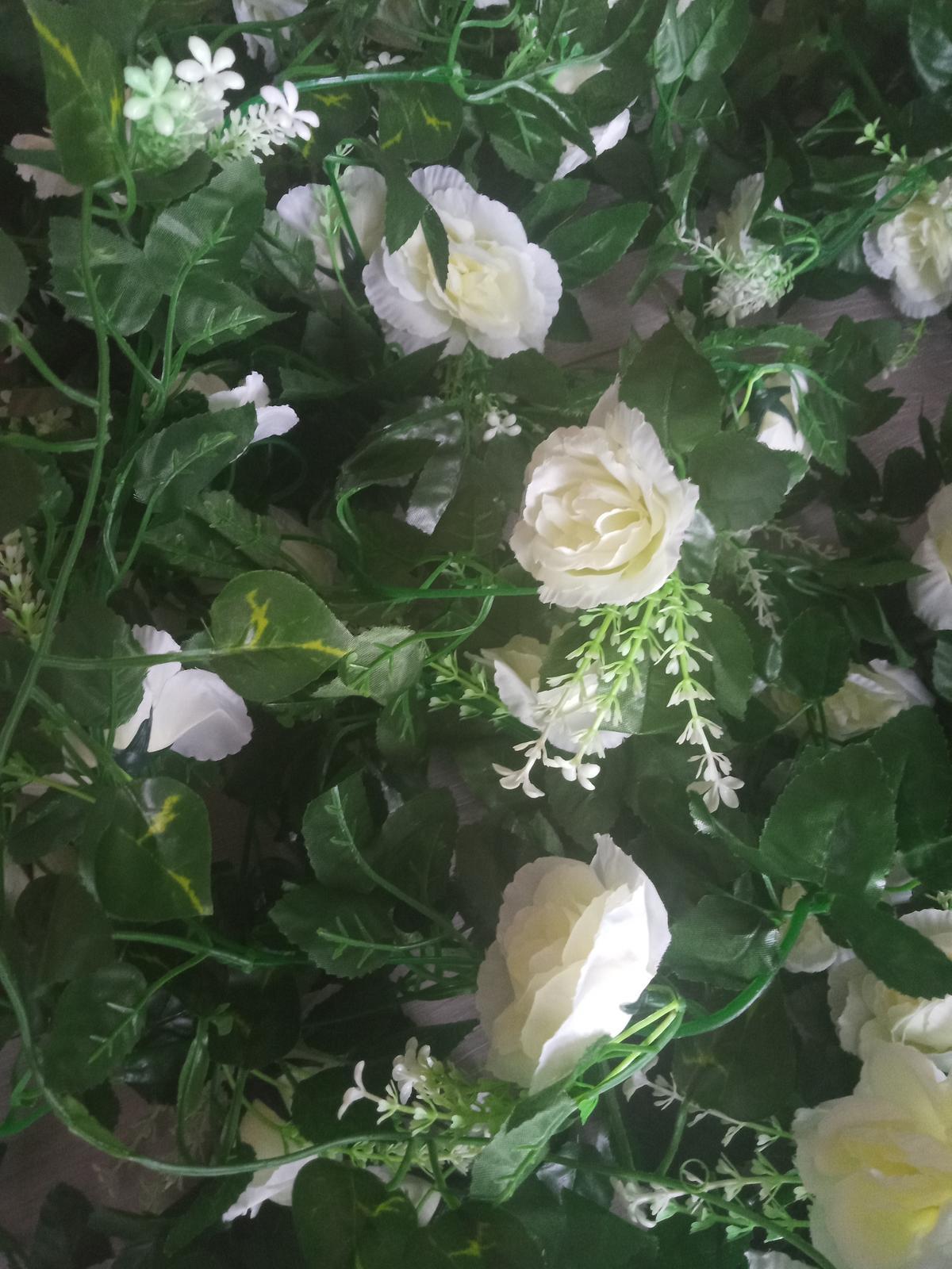 Hodvábne biele ruže - Obrázok č. 1