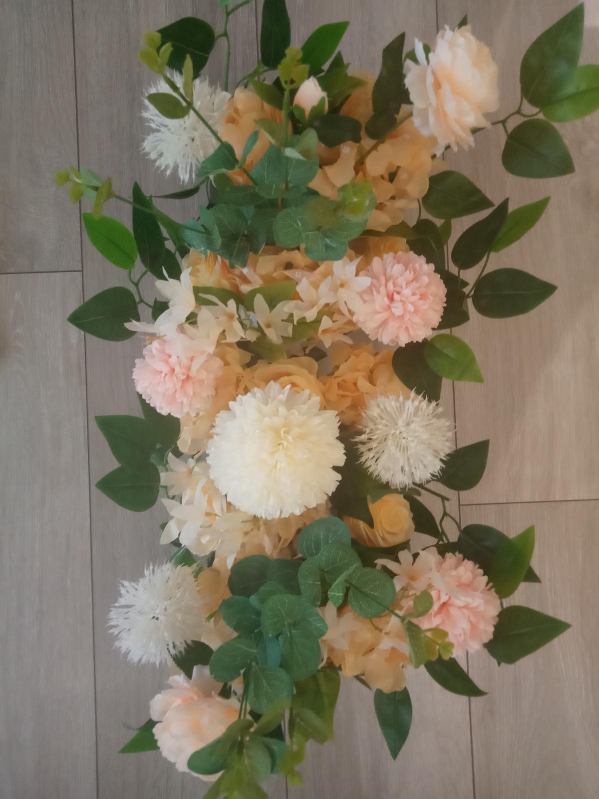 Aranžmán na stôl (celá kytička) 50 cm - Obrázok č. 1