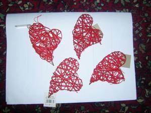 dekorace srdce více kusů