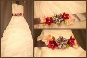 Pásek na svatební šaty,