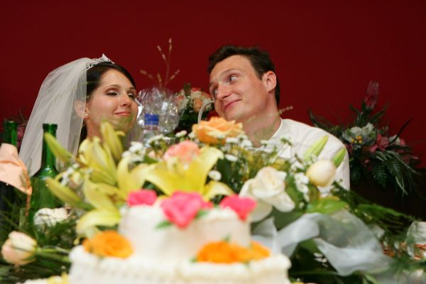 Anna {{_AND_}}Pavol - torta ikebana mladomanželia kytica v jednom