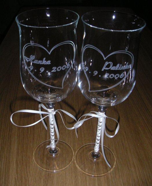 Honey a palino - svadobné poháre