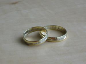 prstýnky,kombinace žlutého a bíleho zlata