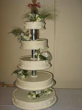 Náš úžasný svatebí dort